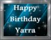 YARRA bday hand balloon