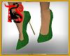 TS Emerald Glitter Heels