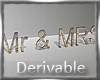 WEDDING Mr and Mrs
