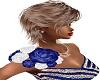 Shoulder Roses Blue L