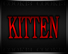 !C! - Kitten Wall Sign