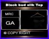 Black bud silk Top