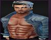 Male Avatar Jean Jacket Black Pants