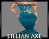 [la] Elegant Teal gown