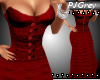 =PJ=Red Fluted Gown