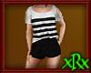 Shorts w Top Blk Stripe