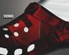 RED Crocs/ White Socks