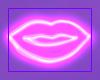 Neon Wall Lips