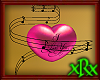 3D Music Heart Pink Love