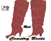~B~ Country Boots Red