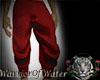 Red plain pants