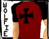 Iron Cross Raglan Red