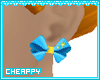 Blue Starry Bow Earrings