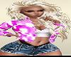 Summer JEan Shorts Pink Jacket Pretty Blond Girls