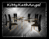 Black & Gold Dining Set