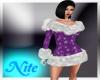 purple winter dress