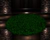 Green Fur Rug Round