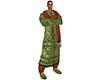 Red Green Sherwani Set