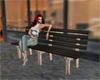City street bench