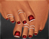 Red Frenchtip Pedicure