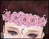 ☽ Pink Flower Crescent