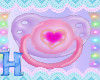 MEW cute heart  kid paci