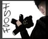 Emo Black Teddy Bear