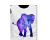 Galaxy elephant tshirt