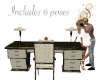 Desk with 6 poses