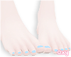 ♡ blue pedicure