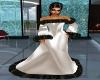 White Satin fur wedding