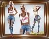 AD! XOXO Tank & Jeans S