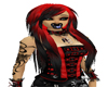 red black long hairs
