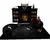 Black Silver Fireplace