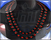 !215!Blk-Red Bead Chain