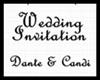 ¢| Wedding Invitation