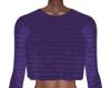 Val Purple Knit Crop