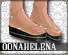 Camila flip flops black
