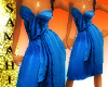 {S} strapless dress blue