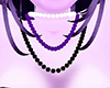 Purple Black White Beads