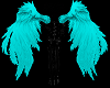 Teal Feather Wings