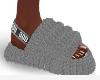 Grey Furry Slides