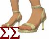 Gold Lamè Spike Heels
