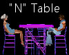 """""""N"""" Club Table for 4"""