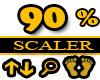 90% Scaler Feet Resizer