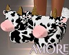 Amore Cow Slippers
