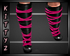 ! Strapy Boots Hot Pink