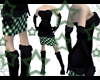 Green Diamond Blk Dress