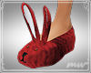 !Bunny slippers red