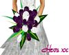 Purple/White bridesmaid